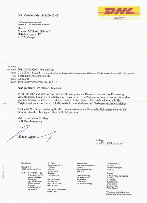 Brief Mit Inkasso Dhl : Verbesserungen beim service ermöglichen dreingaben…