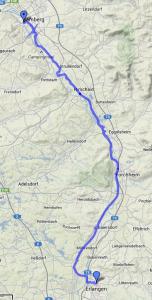 Radtour Bamberg-Erlangen 2013